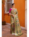 Dashing Multi Colour Designer Party Wear Sari