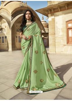 Green Designer Party Wear Sari