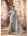 Silver Designer Wedding Sari