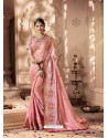 Pink Designer Party Wear Sari
