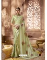 Green Designer Wedding Sari