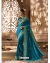 Teal Designer Wedding Sari