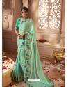 Jade Green Designer Wedding Sari