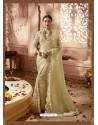 Khaki Designer Wedding Sari