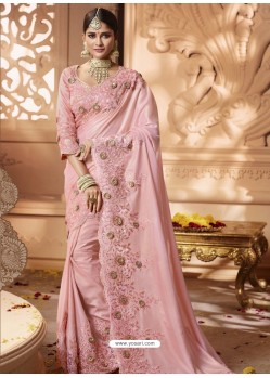 Pink Designer Wedding Sari