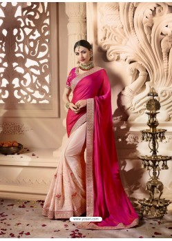 Rose Red Designer Wedding Sari