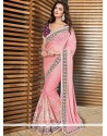 Pleasant Pink Net Designer Saree