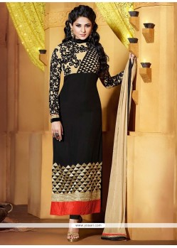 Jenifer Winget Black Georgette Churidar Suit