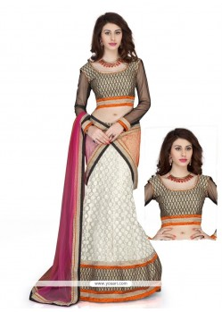 Fabulous White Embroidery Work Lehenga Choli