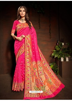 Rani Designer Paithani Silk Sari