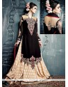 Stupendous Black Silk Lehenga Designer Choli