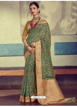 Elegant Multi Colour Designer Party Wear Sari