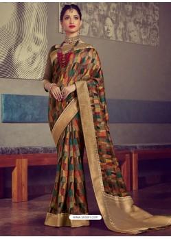 Multi Colour Designer Party Wear Sari
