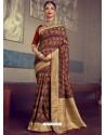 Stunning Multi Colour Designer Party Wear Sari