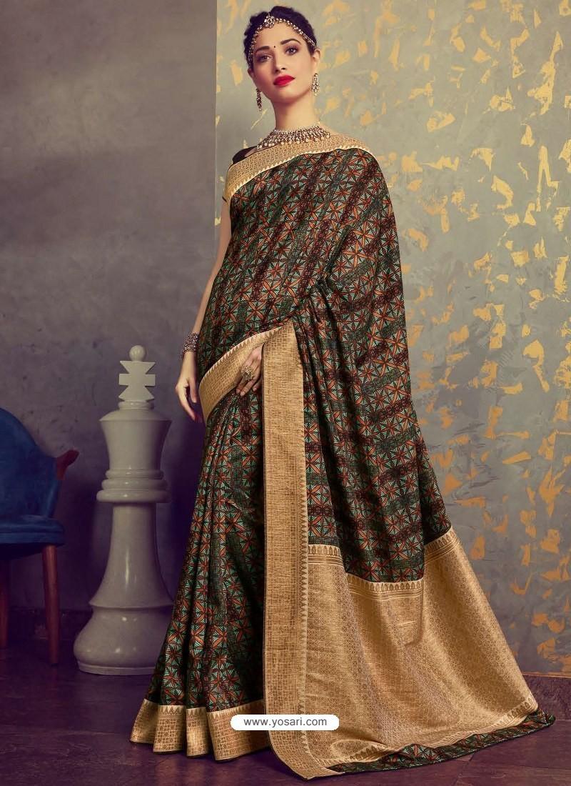 Elegant Multi Colour Designer Party Wear Sari