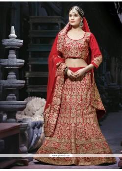 Pleasant Maroon Silk Designer Lehenga Choli