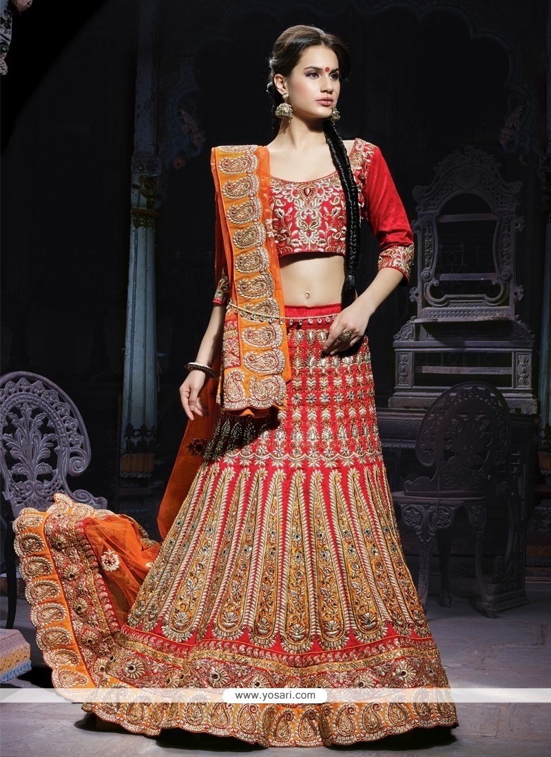 Stylish Maroon Silk Designer Lehenga Choli