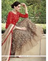 Nargis Fakhri Red And Beige Net Lehenga Choli