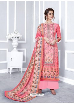 Pink Designer Georgette Palazzo Salwar Suit