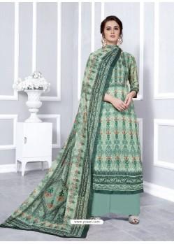 Grey Designer Georgette Palazzo Salwar Suit