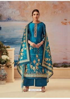 Blue Designer Palazzo Salwar Suit