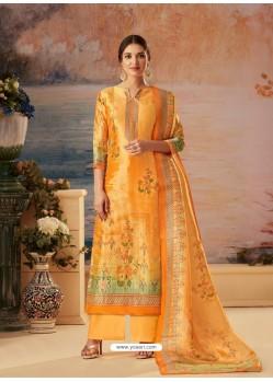 Yellow Designer Palazzo Salwar Suit