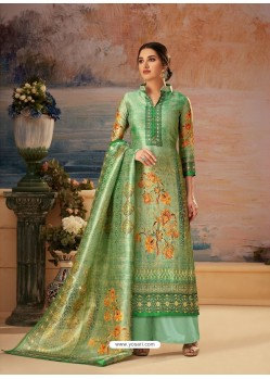 Green Designer Palazzo Salwar Suit