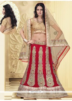 Beautiful Red Net Wedding Lehenga Choli