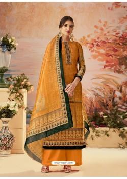 Orange Designer Palazzo Salwar Suit