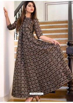 Brown Party Wear Gown for Girls
