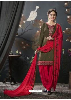 Mehendi Designer Embroidered Punjabi Patiala Suits