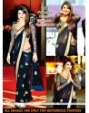 Priyanka Chopra Black Net Saree