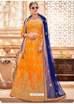 Yellow Heavy Embroidered Wedding Lehenga Choli