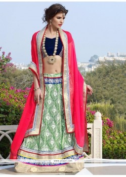Elite Green Net Designer Lehenga Choli