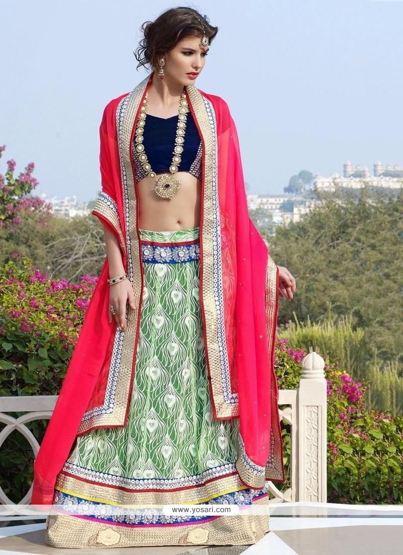 Elite Green Net Designer Lehenga Choli
