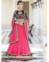 Fabulose Pink Georgette Wedding Lehenga Choli