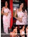 Priyanka Chopra Net Pink Saree
