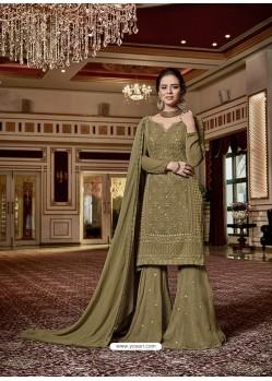 Mehendi Designer Georgette Sharara Suit