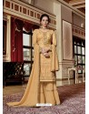 Light Orange Designer Georgette Sharara Suit