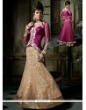 Lovely Cream Net Designer Lehenga Choli