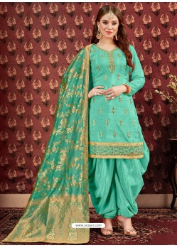 Firozi Designer Embroidered Punjabi Patiala Suits