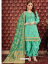 Firozi Designer Embroidered Punjabi Patiala Suits