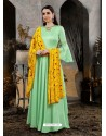 Sea Green Designer Party Wear Gown for Girls