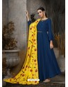 Navy Blue Designer Party Wear Gown for Girls
