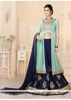 Splendid Blue Georgette Lehenga Choli
