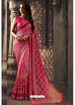 Light Pink Designer Chiffon Casual Wear Sari