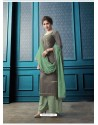 Grey Designer Flex Cotton Palazzo Salwar Suit
