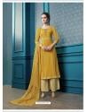 Yellow Designer Flex Cotton Palazzo Salwar Suit