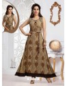 Beige Rayon Designer Readymade Gown