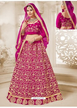 Rani Velvet Heavy Embroidered Lehanga Choli